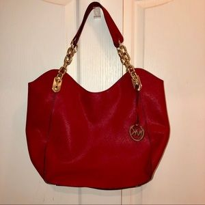 Michael Kors leather shoulder bag Authentic